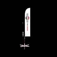 SlimBlade beachflag Briggs & Stratton 3.4m / including folding base
